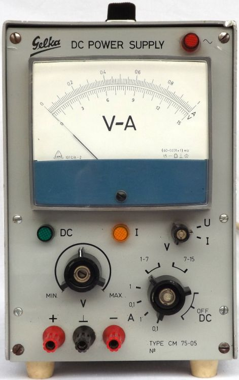GELKA DC POWER SUPPLY Type:CM7505